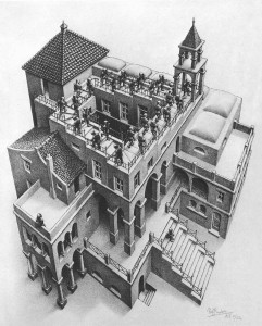 "M.C. Escher's ""Ascending and Descending"""
